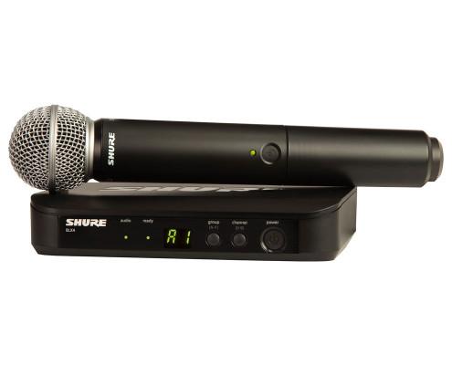 hyra trådlös mikrofon stockholm shure blx24/sm58