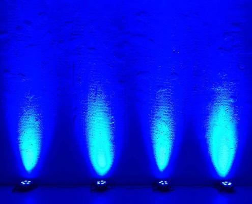 hyr spotlight stockholm blå