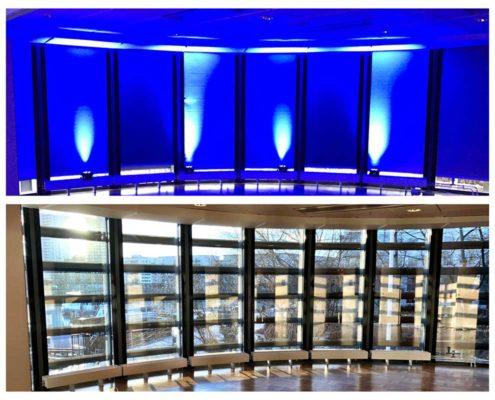 exempel ljus fest blå