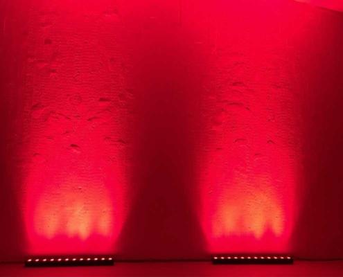 hyr partybelysning ADJ UB 12H röd