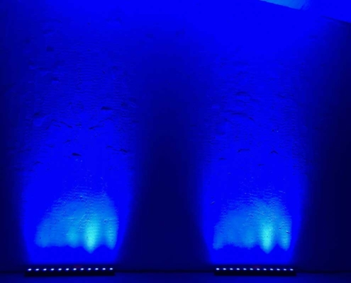 hyra partybelysning blå