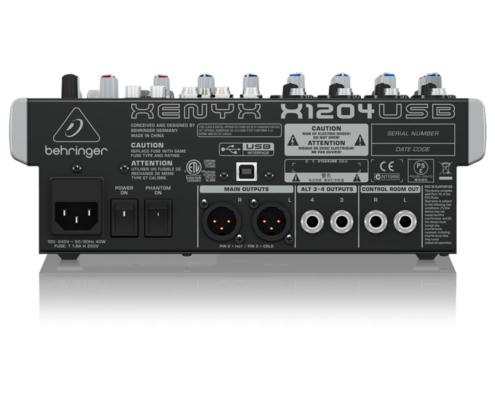 mixerbord behringer xenyx x1204usb